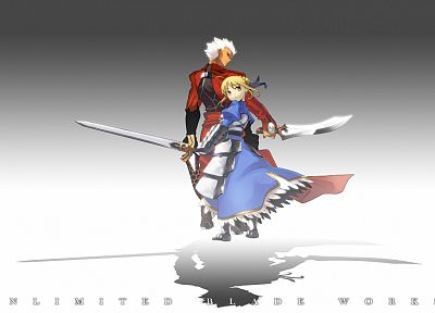 Fate/Stay Night, Type-Moon, Saber, Archer (Fate/Stay Night), Fate series - random desktop wallpaper