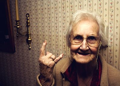 Rock music, old woman - random desktop wallpaper