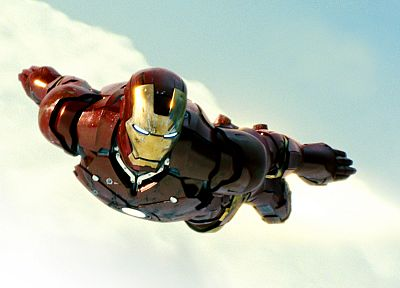 Iron Man, movies, superheroes, armor, Marvel Comics, flight, Iron Man 2 - random desktop wallpaper