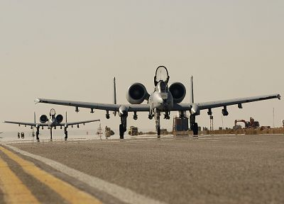 aircraft, military, A-10 Thunderbolt II - random desktop wallpaper