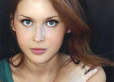 women, redheads, singers, Renee  Olstead - desktop wallpaper