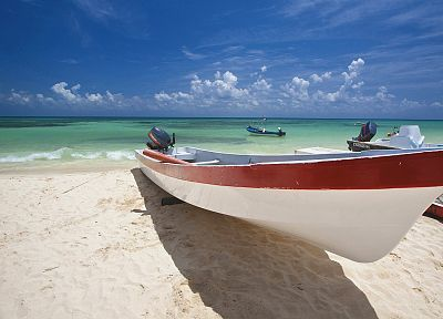 Mexico, boats, vehicles, beaches - desktop wallpaper