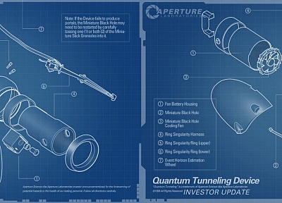 blueprints, Aperture Laboratories, Portal 2 - random desktop wallpaper