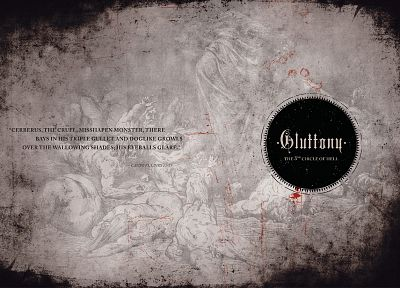 quotes, Hell, typography, gluttony - random desktop wallpaper