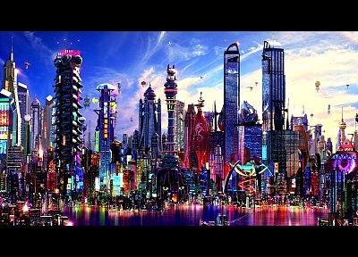 cityscapes, multicolor, architecture, buildings - related desktop wallpaper