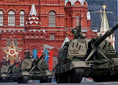 red, May, Russia, tanks, Moscow, artillery, parade, Red Square, squares - random desktop wallpaper