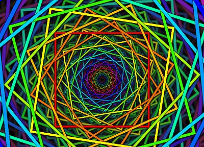abstract, multicolor, shapes, rainbows, spirals - related desktop wallpaper