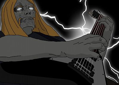 cartoons, dethklok, toki, Metalocalypse - random desktop wallpaper