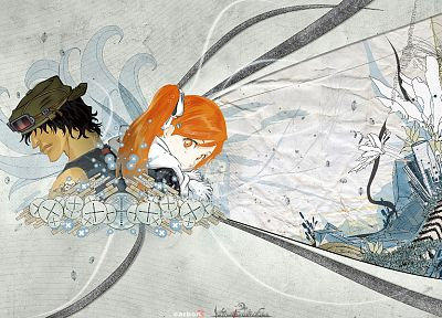 Bleach, Inoue Orihime, anime, Yasutora Sado - related desktop wallpaper