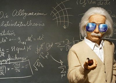 sunglasses, Albert Einstein, scientists - random desktop wallpaper