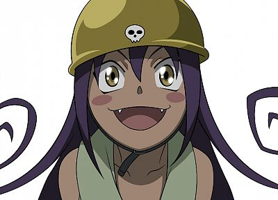 Soul Eater, Blair, purple hair, hats - random desktop wallpaper