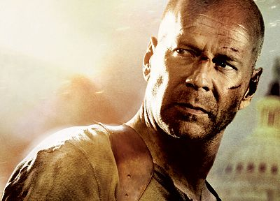 movies, Die Hard, actors, Bruce Willis, movie posters - desktop wallpaper