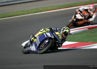 vehicles, Moto GP, motorbikes, Valentino Rossi, Nicky Hayden, race tracks - related desktop wallpaper