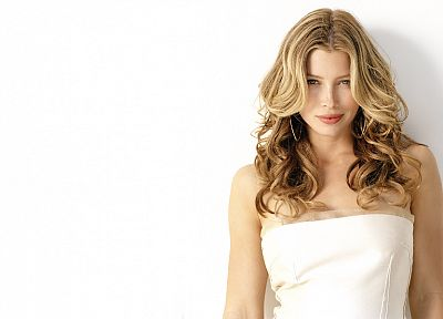 women, actress, Jessica Biel, celebrity, simple background, white background - random desktop wallpaper