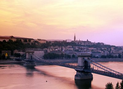 cityscapes, architecture, bridges, buildings, Hungary, Budapest, chains - desktop wallpaper