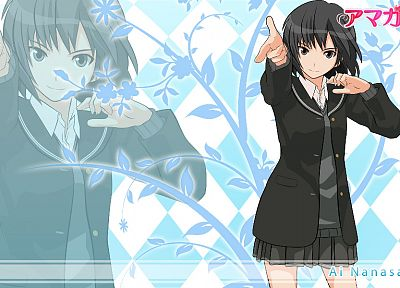 school uniforms, Amagami SS, Nanasaki Ai, anime girls - desktop wallpaper