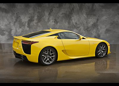 Lexus LFA, yellow cars - random desktop wallpaper