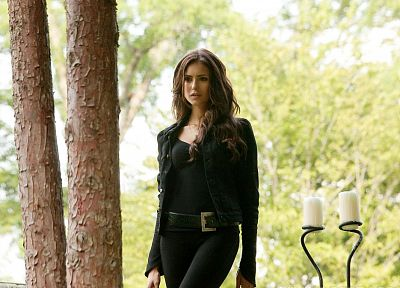 TV, women, belts, Nina Dobrev, The Vampire Diaries, Katherine Pierce, Elena Gilbert - random desktop wallpaper