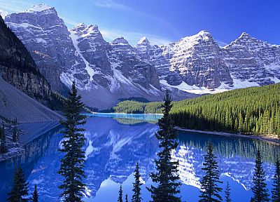 mountains, landscapes, nature, forests, rivers - desktop wallpaper
