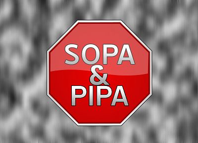 Internet, stop signs, SOPA, PIPA - desktop wallpaper