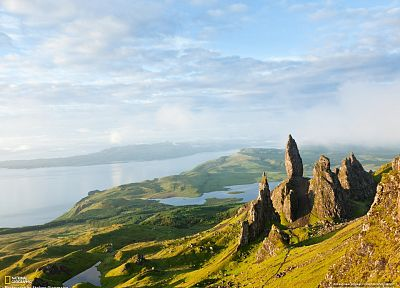 water, mountains, landscapes, nature, rocks, National Geographic, Scotland, Isle of Skye - desktop wallpaper