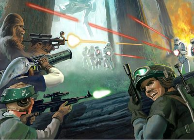 Star Wars, stormtroopers, Chewbacca, rebels - related desktop wallpaper