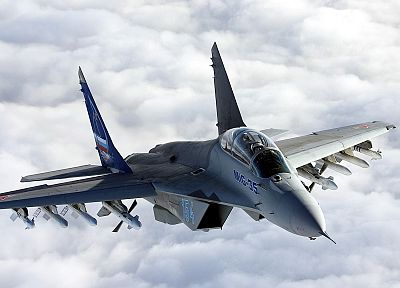 airplanes, jet aircraft, MIG-35 Fulcrum-F - random desktop wallpaper