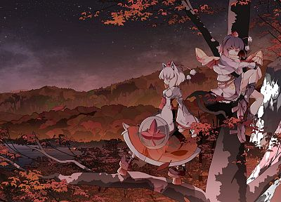 Touhou, Shameimaru Aya, anime, Inubashiri Momiji, anime girls - related desktop wallpaper