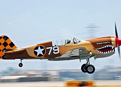 aircraft, Curtiss P-40 - random desktop wallpaper
