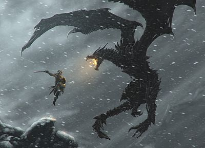 video games, RPG, PC, The Elder Scrolls, The Elder Scrolls V: Skyrim, Dovahkiin, pc games - desktop wallpaper