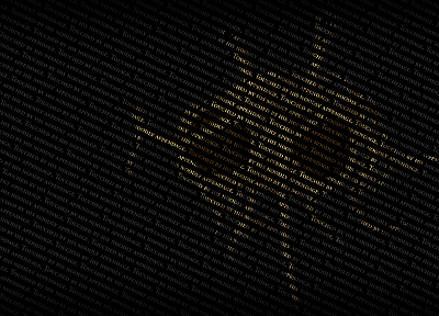 typography, flying spaghetti monster - random desktop wallpaper