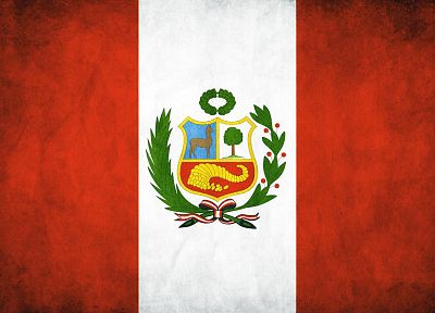 flags, Peru - desktop wallpaper