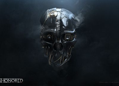 video games, robots, masks, digital art, Dishonored - related desktop wallpaper