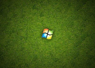 green, abstract, Windows 7, grass, Microsoft Windows, Cezarislt - related desktop wallpaper