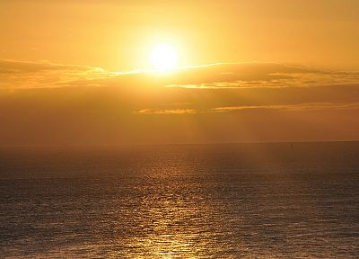 sunset, ocean, nature, sea - related desktop wallpaper