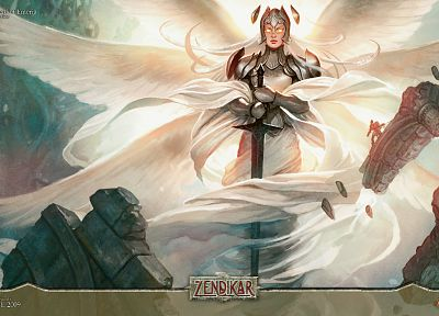 angels, cards, fantasy, video games, Magic: The Gathering - desktop wallpaper
