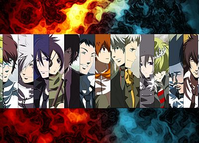 Katekyo Hitman Reborn, characters, anime, panels - related desktop wallpaper