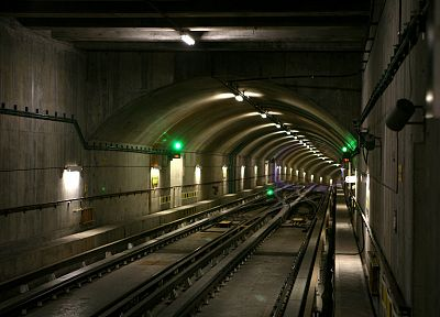 subway, underground, tunnels, railroad tracks - random desktop wallpaper