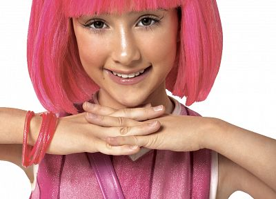 Lazytown, pink hair, headbands, Julianna Rose Mauriello, pink dress - random desktop wallpaper