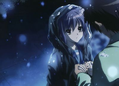 Nagato Yuki, The Melancholy of Haruhi Suzumiya, anime - random desktop wallpaper