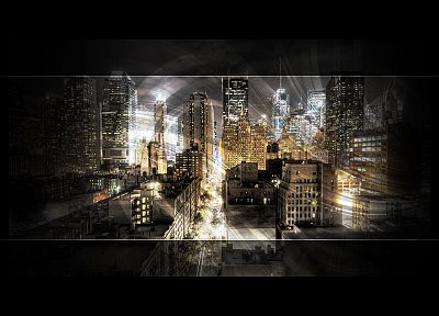 cityscapes, architecture, buildings, digital art, black background - related desktop wallpaper
