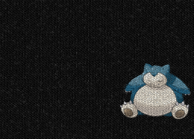 Pokemon, mosaic, Snorlax - random desktop wallpaper