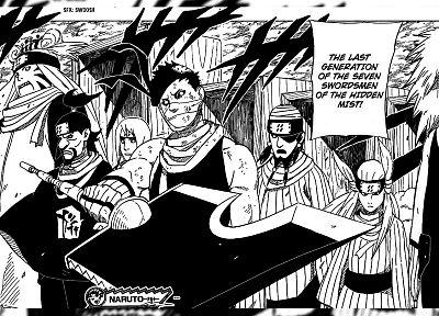 Naruto: Shippuden, manga, Seven Swordsman, Zabuza Momochi - newest desktop wallpaper