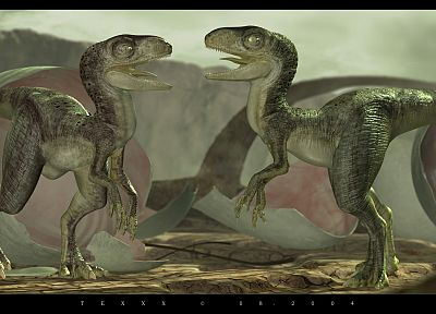 artistic, dinosaurs, velociraptor - related desktop wallpaper