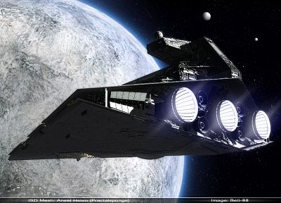 Star Wars, outer space, spaceships, vehicles, Star Destroyer - random desktop wallpaper