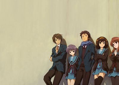The Melancholy of Haruhi Suzumiya, anime, anime boys, anime girls - related desktop wallpaper