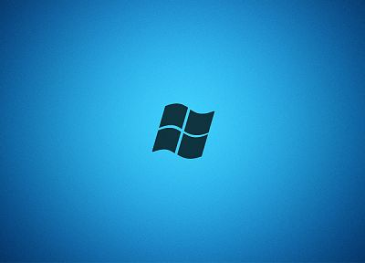 blue, minimalistic, Microsoft Windows, logos, Vignette - related desktop wallpaper