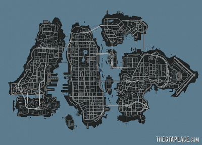 video games, Grand Theft Auto, maps, GTA IV - related desktop wallpaper