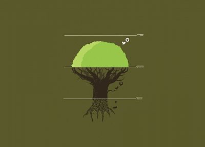 trees, vectors, presents, Threadless, past, depressing - desktop wallpaper