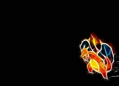 Pokemon, Charizard, black background - desktop wallpaper